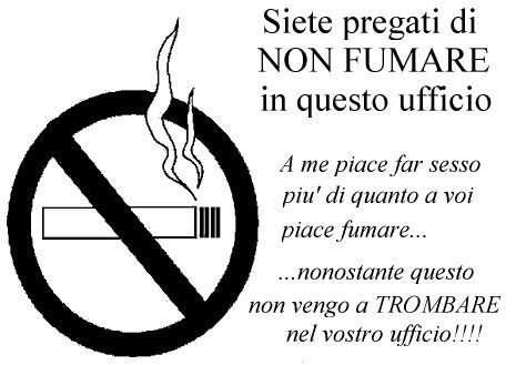 insegne divertenti vietato fumare