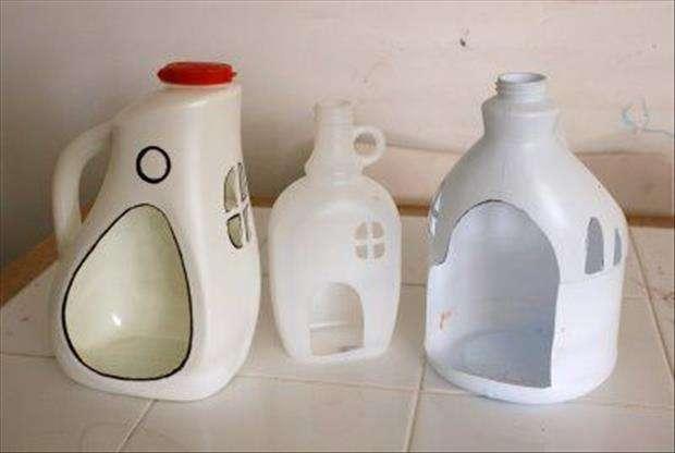 домик из пластиковых бутылок своими руками фото