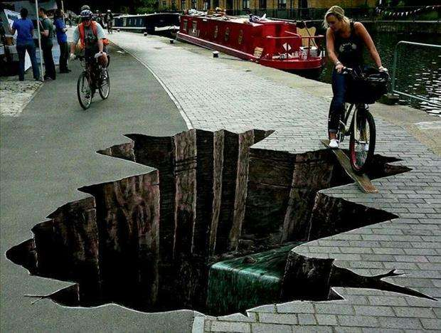 sidewalk street art