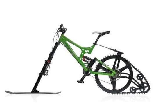 bicicletta per la neve