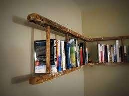 libreria fatta con una scala antica