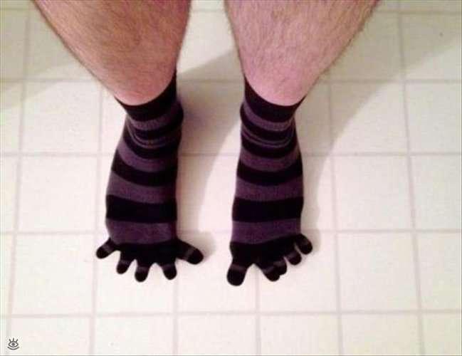 dita dei piedi aperte