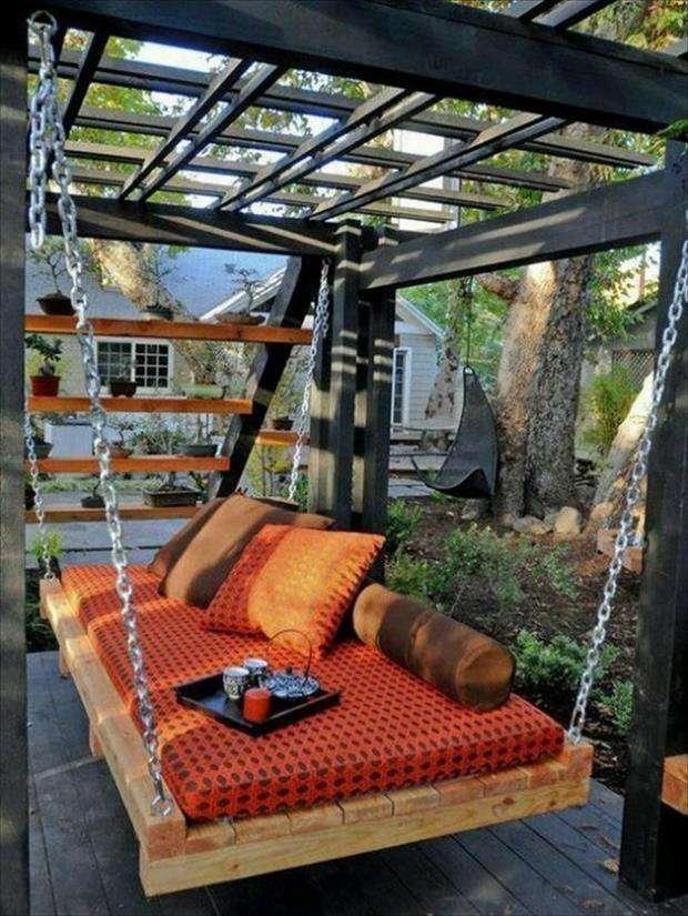 idea divano a dondolo con pancali