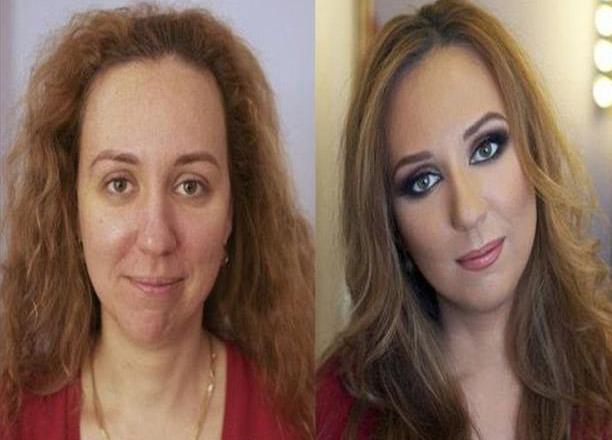 con e senza make up