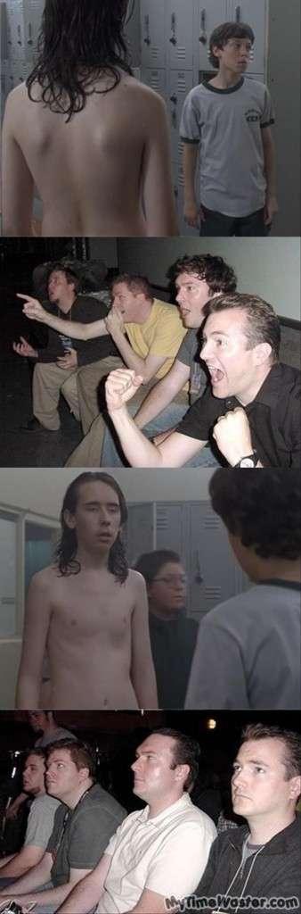 reazione maschi che guardano un video sexy