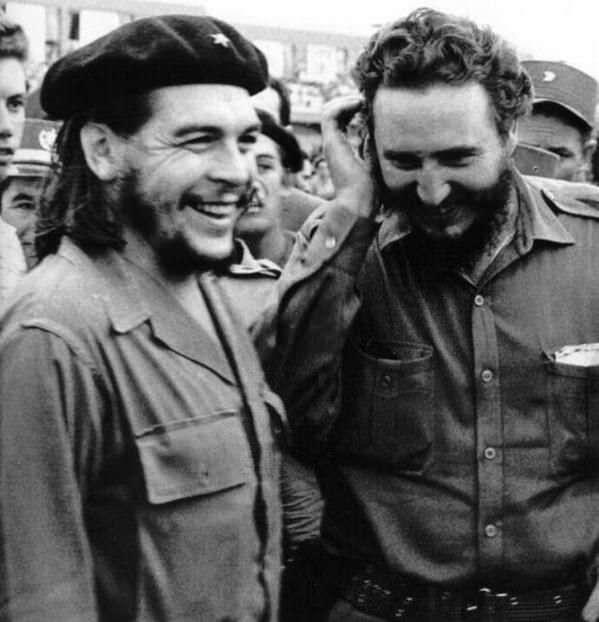 fotografie rare Che Guevara e Fidel Castro