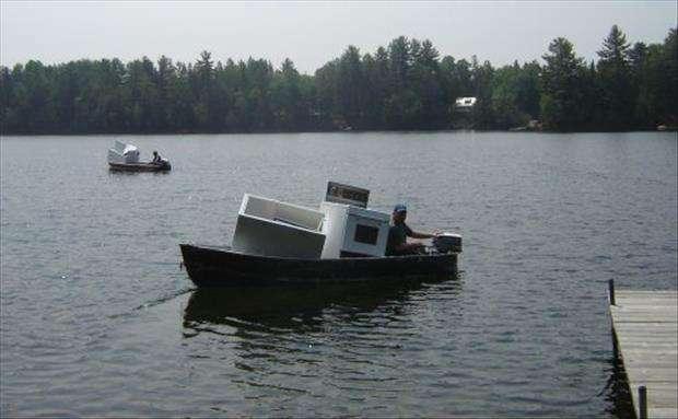 Trasporto elettrodomestici in barca