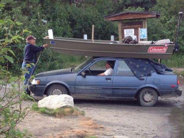 Trasportare una barca senza rimorchio