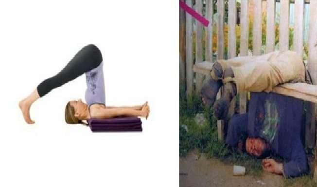 Ubriachi in posizioni da Yoga (2)