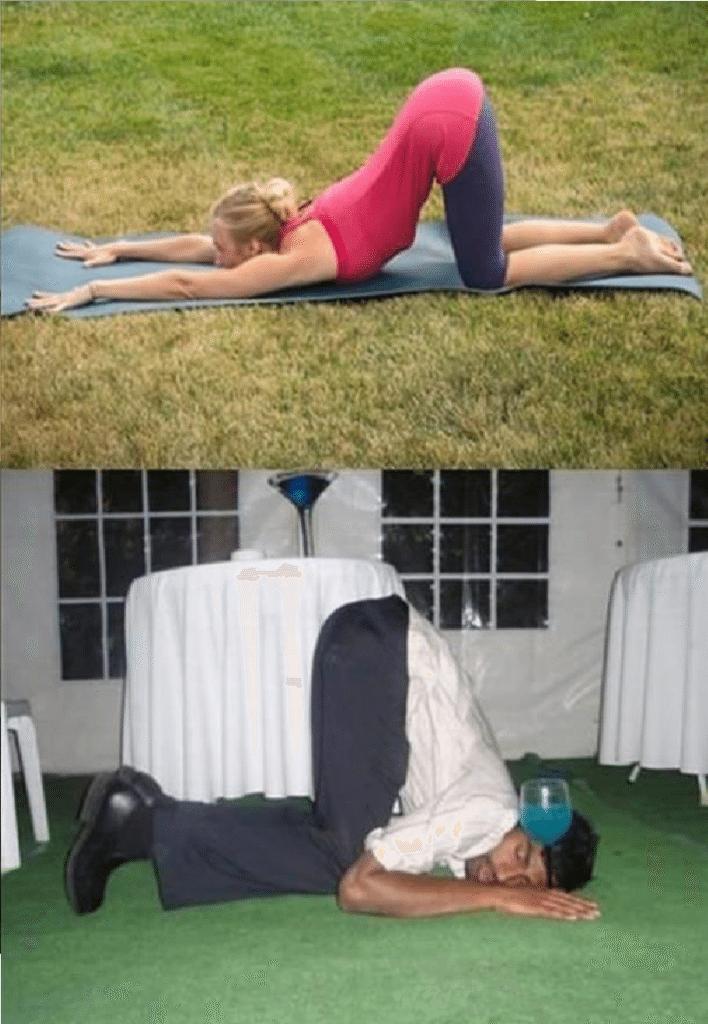 Ubriachi in posizioni da Yoga (3)