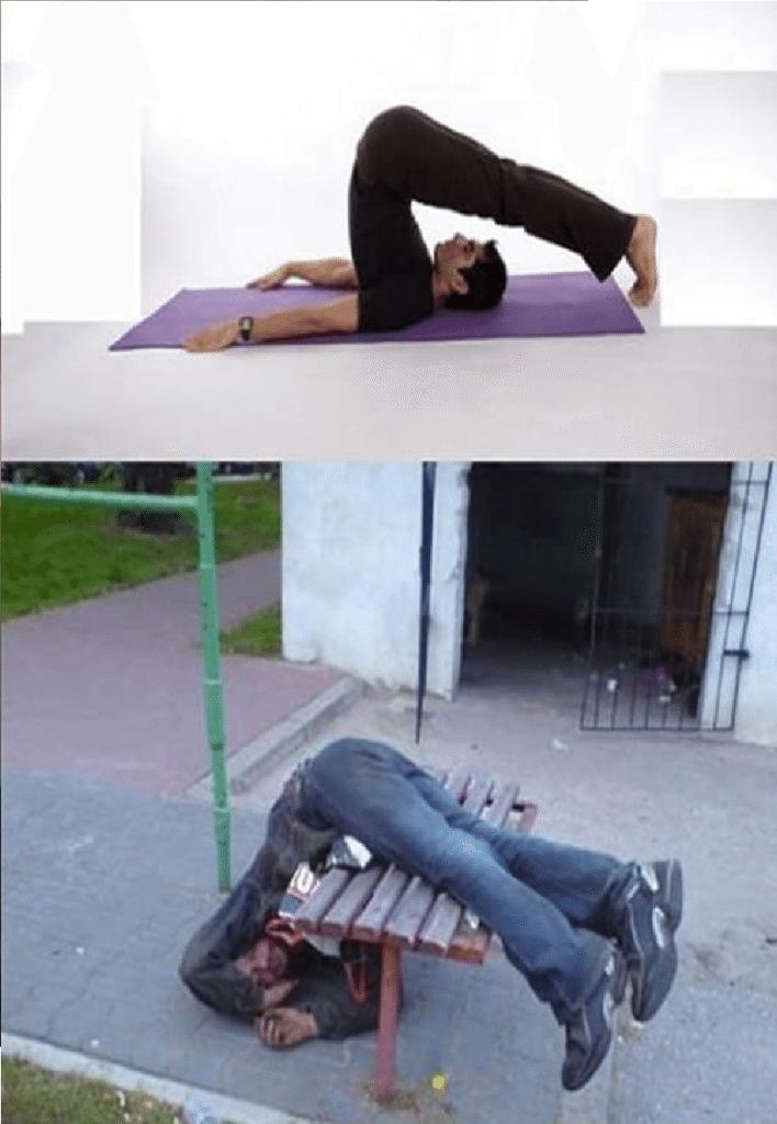 Ubriachi in posizioni da Yoga (4)