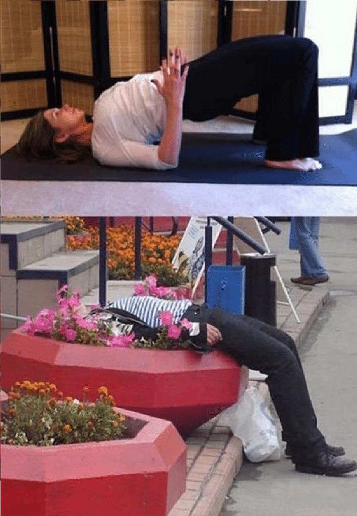 Ubriachi in posizioni da Yoga (5)
