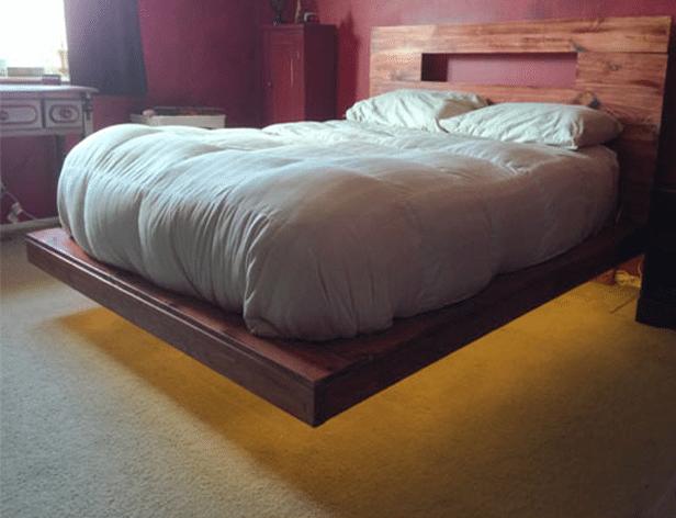 Come costruire un letto con le luci 12 foto - Costruire letto matrimoniale ...