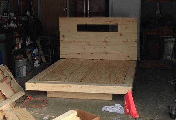 Struttura letto in legno easy letto in di rovere nodi for Piani di casa sotto 100k da costruire