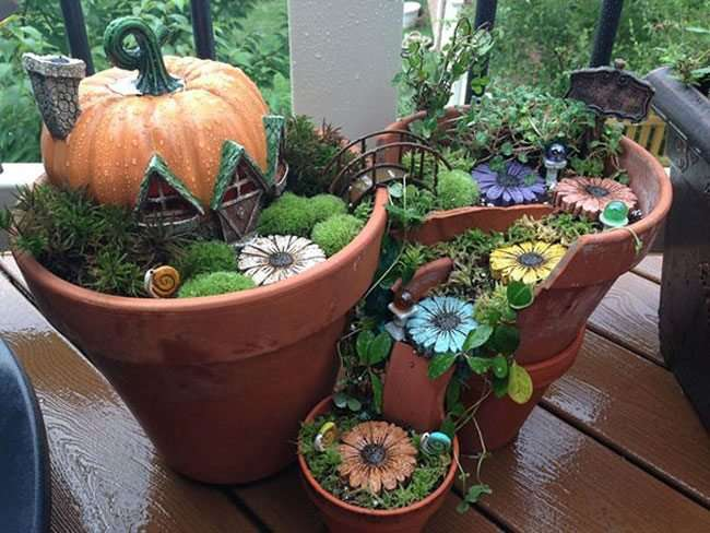 Idee creative con vasi di terra cotta