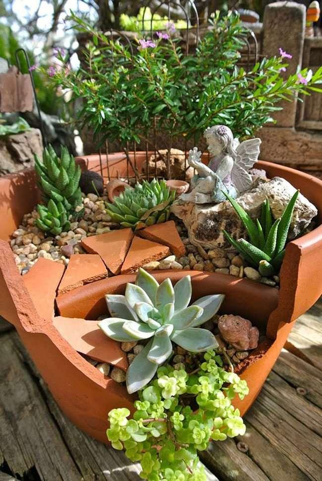 Idee per il giardino riciclo con vasi di terracotta 18 foto for Per il giardino
