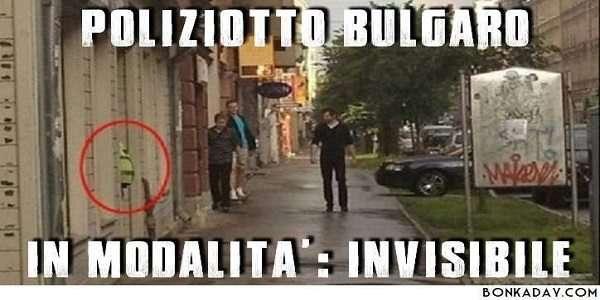 fotografie simpatiche -Poliziotto Bulgaro
