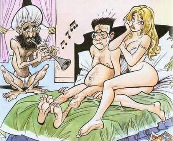Immagini divertenti vita di coppia a letto