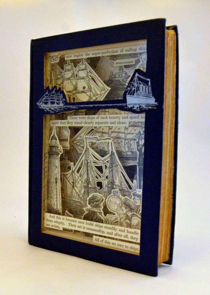 Quadro 3D con vecchi libri