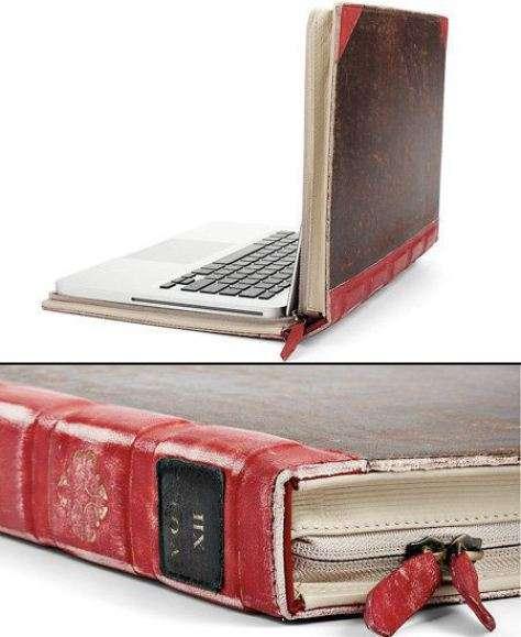 Porta PC a forma di libro