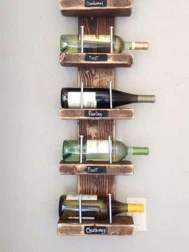 Idee fai da te con il legno 35 foto progetti for Porta vino fai da te