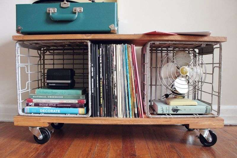 Idee fai da te con il legno 35 foto progetti for Mobile con ruote