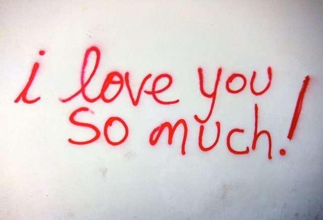 Scritta - i love you