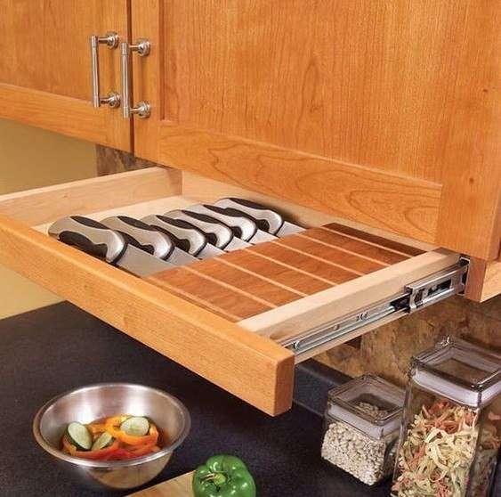 Idee per la cucina portacoltelli sicuri