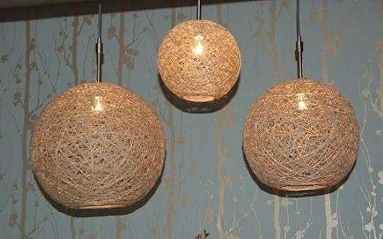 Idee lampadari fai da te