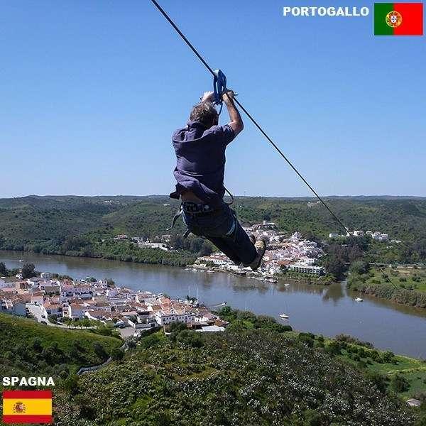 Come andare dalla Spagna al Portogallo in meno di un minuto - Confini tra stati spettacolari