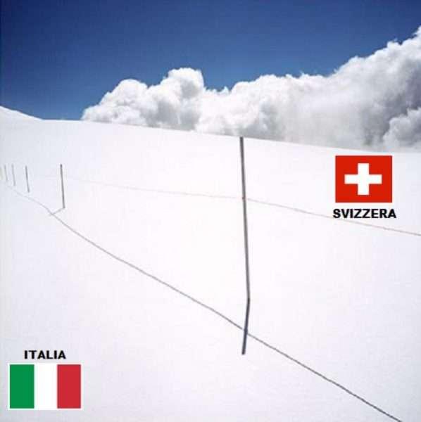 Confini internazionali - Le frontiere più belle senza muri e dogane - Italia Svizzera
