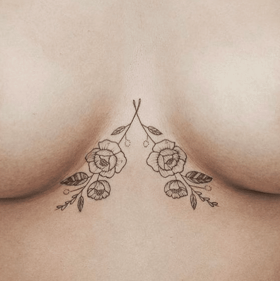 Rose - Tatuaggi sotto il seno