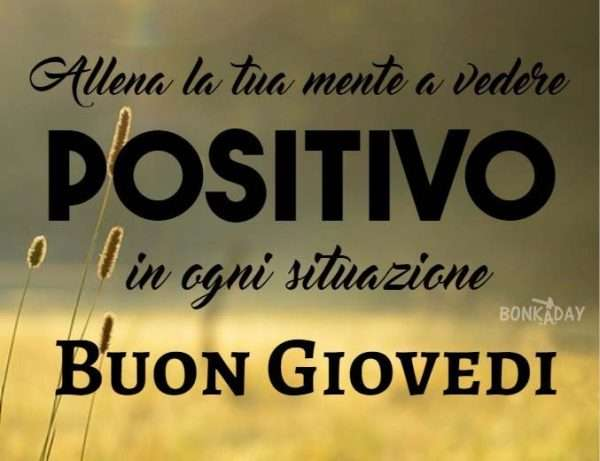Frasi positive buongiorno