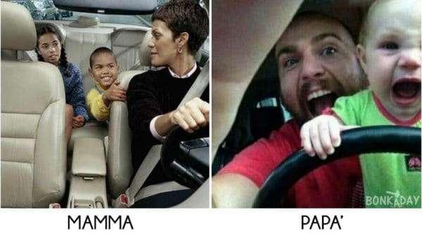 Genitori divertenti auto