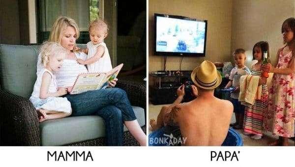 Figli con mamma e papà