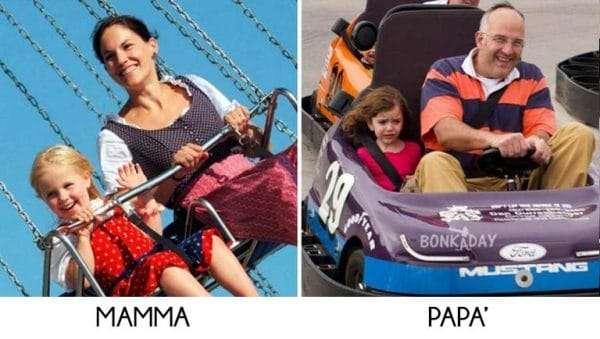 Luna Park divertirsi mamma