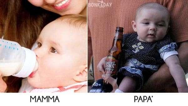 Mangiare con mamma e papà