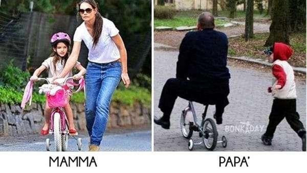 Mamma Vs Papà - Lezioni di Bicicletta