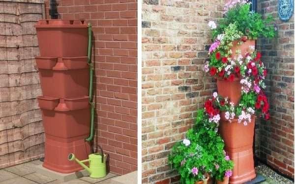 Porta fiori con riserva d'acqua