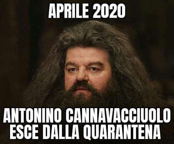Aprile 2020 Antonino Cannavacciulo esce dalla quarantena